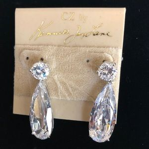 Brand new CZ dangly earrings